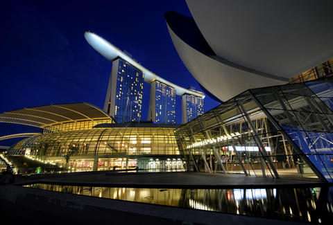 exterior of Marina Bay Sands in Singapore