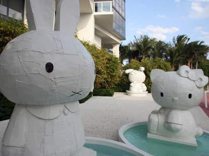 hello kitty art at W Hotel South Beach