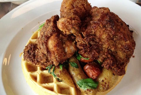 chicken and waffles, soul food, comfort food
