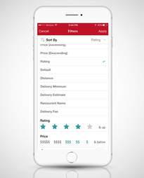 screenshot of the Seamless app on iPhone 6