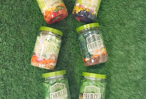 jars of salad from farmer's fridge chicago