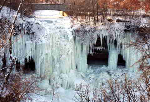 Icicles in Minnesota park