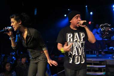 Hip hop artists performing in Minnesota bar