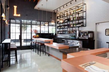 Bar and interior at Local Kitchen and Wine Bar