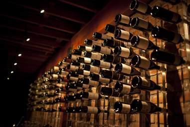 wine bottles at bodega wine bar