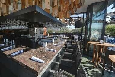 Bar seating at Sonoma Wine Garden
