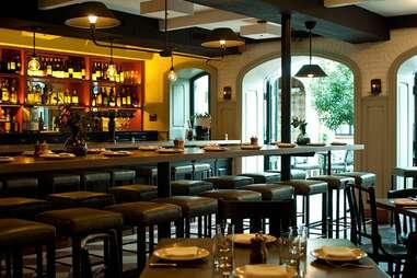 bar at A.O.C., wine