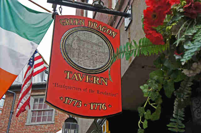 exterior of Green Dragon Tavern in Boston