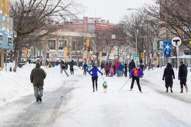 blizzard in boston, snow