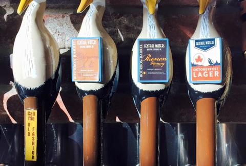duck taps of craft beer at Central Waters Brewing Company Wisconsin