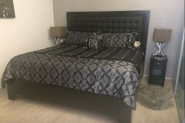 airbnb cleveland bedroom bed