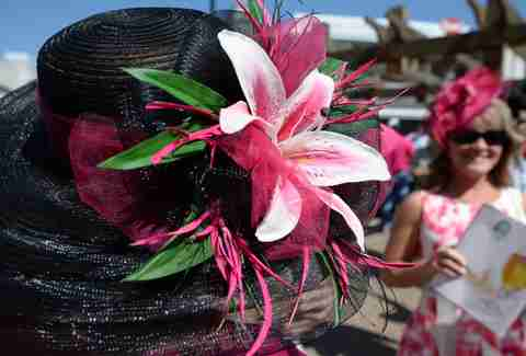 kentucky derby flower hat