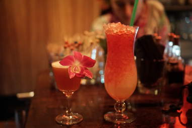 tropical drinks at pagan idol
