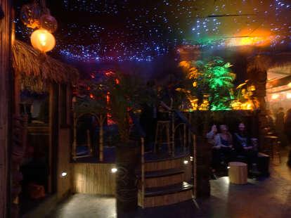 interior pagan idol san francisco tiki cocktail bar