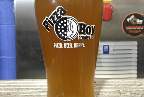 pint glass pizza boy brewing beer company al's of hampden