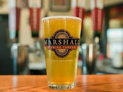 pint glass marshall brewing company tulsa oklahoma
