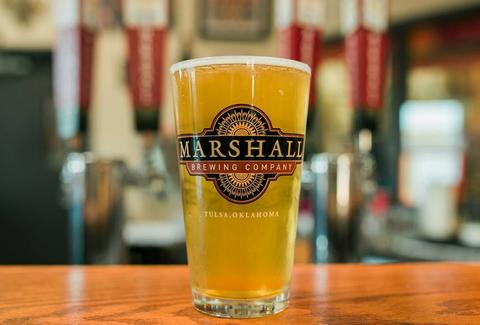 pint glass marshall brewing company tulsa oklahoma