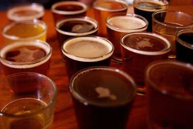 shots, shots on a bar, Holgate Brewhouse