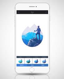 screenshot of Enlighten app in an iPhone 6