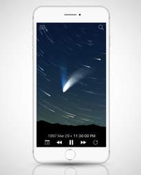 screenshot of Sky Guide app in an iPhone 6