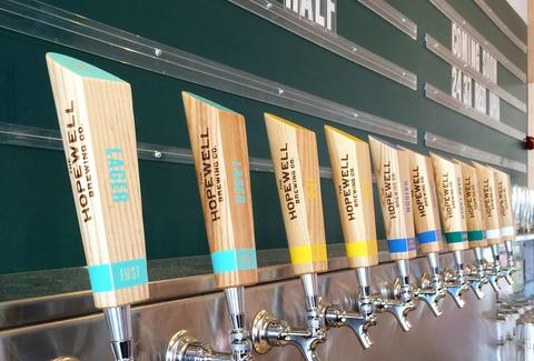 taps at hopewell brewing
