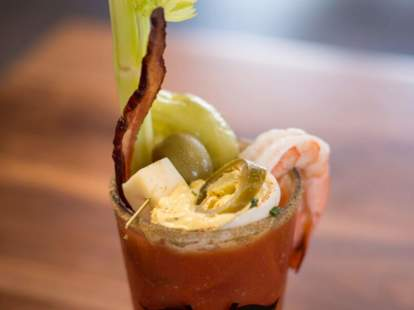 over the top bloody mary from jimmy's famous american tavern