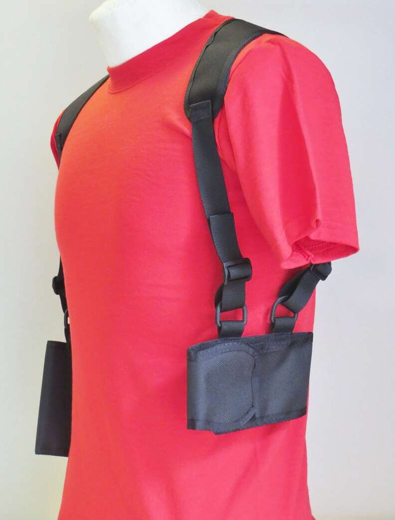 Cell phone shoulder holster from Amazon