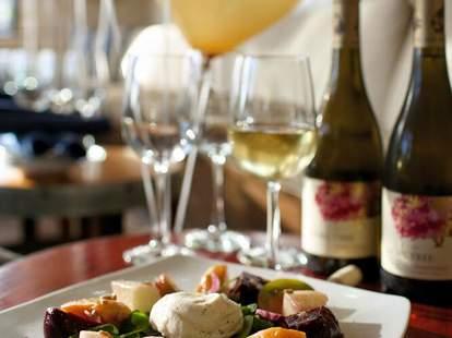romantic intimate meal at SeaLegs Wine Bar
