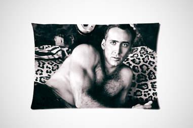 Nicolas Cage Pillowcase on Amazon