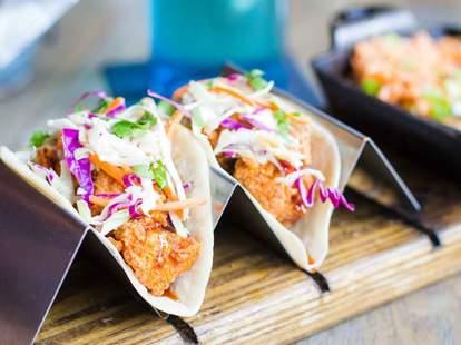 tacos in taco holders thrillist
