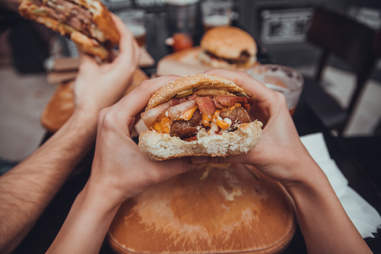 Vegetarians eat burgers