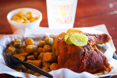 Nashville chicken dinner
