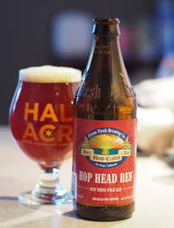 Green Flash Hop Head Red with full glass