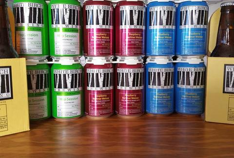 white birch brewing new hampshire craft beer brewery beer cans