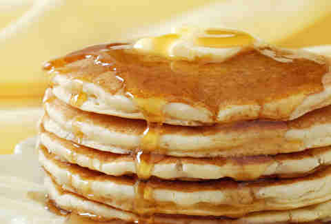 stack of pancakes, butter