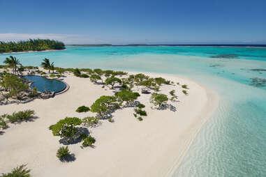 The Brando island beach
