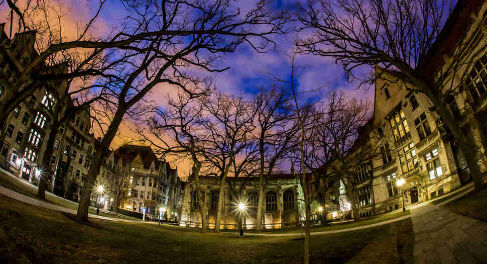 The Bond Chapel Quad at Night
