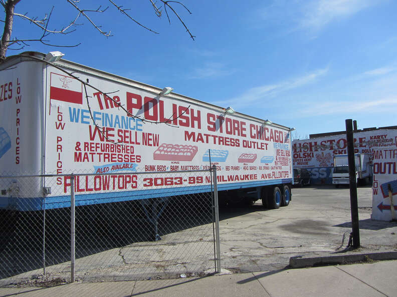 Signage for the Polish store in Chicago