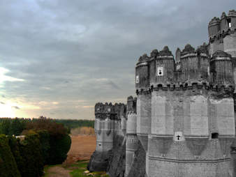Coca Castle in the province of Segovia & the Castilla y León region of Spain