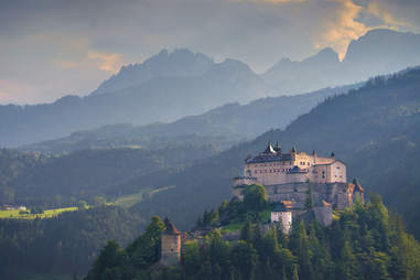 Hohenwerfen Castle as seen from a distance