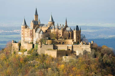 Hohenzollern Castle perched on a peak