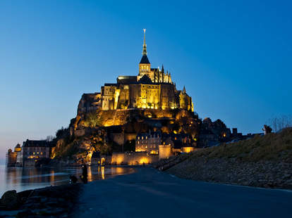 Mont Saint Michel during high tide