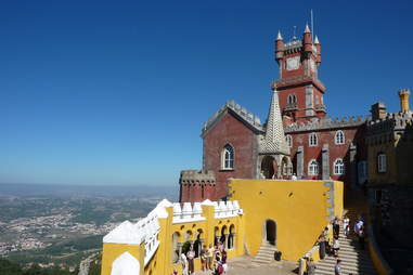 Pena Palace perched on hill