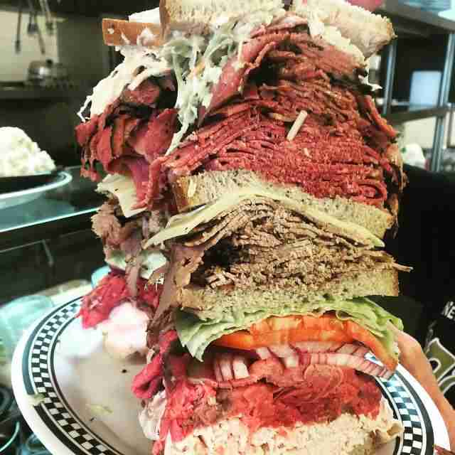 Sandwich used for Kibitz Room's eating challenge
