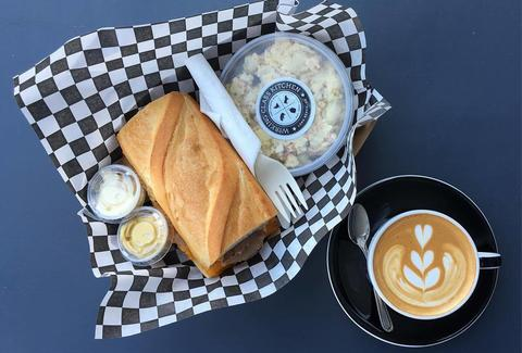 sandwich and latte recreational coffee long beach