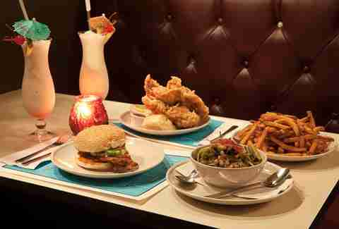 food burgers fried chicken french fries pina colada the commodore williamsburg brooklyn