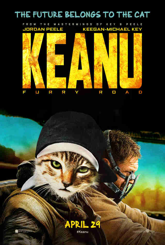 Fake Movie Poster for Mad Max Starring Keanu The Cat