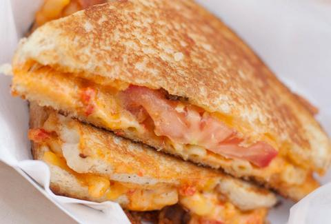 Grilled cheese sandwich with tomato from Grilled Cheeserie in Nashville