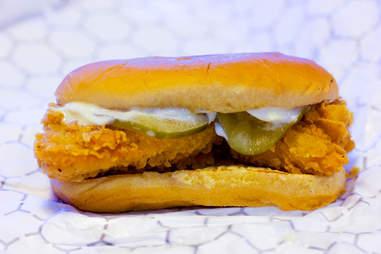 KFC Chicken Littles sandwich