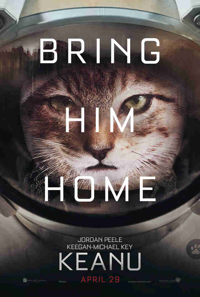 Fake Movie Poster for The Martian Starring Keanu The Cat